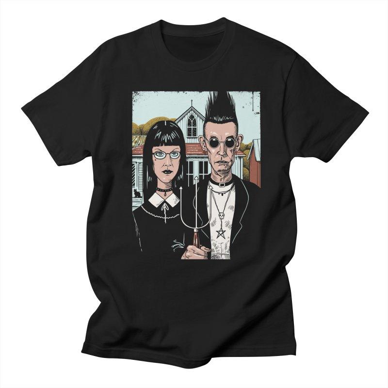 American Goth Women's Regular Unisex T-Shirt by Vincent Trinidad Art