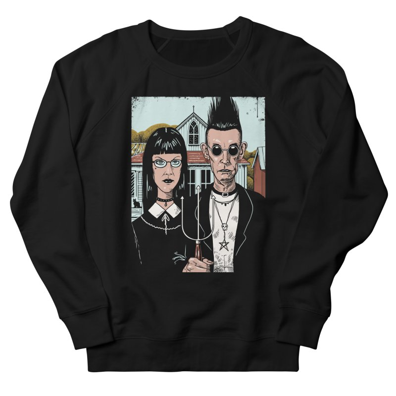 American Goth Men's French Terry Sweatshirt by Vincent Trinidad Art