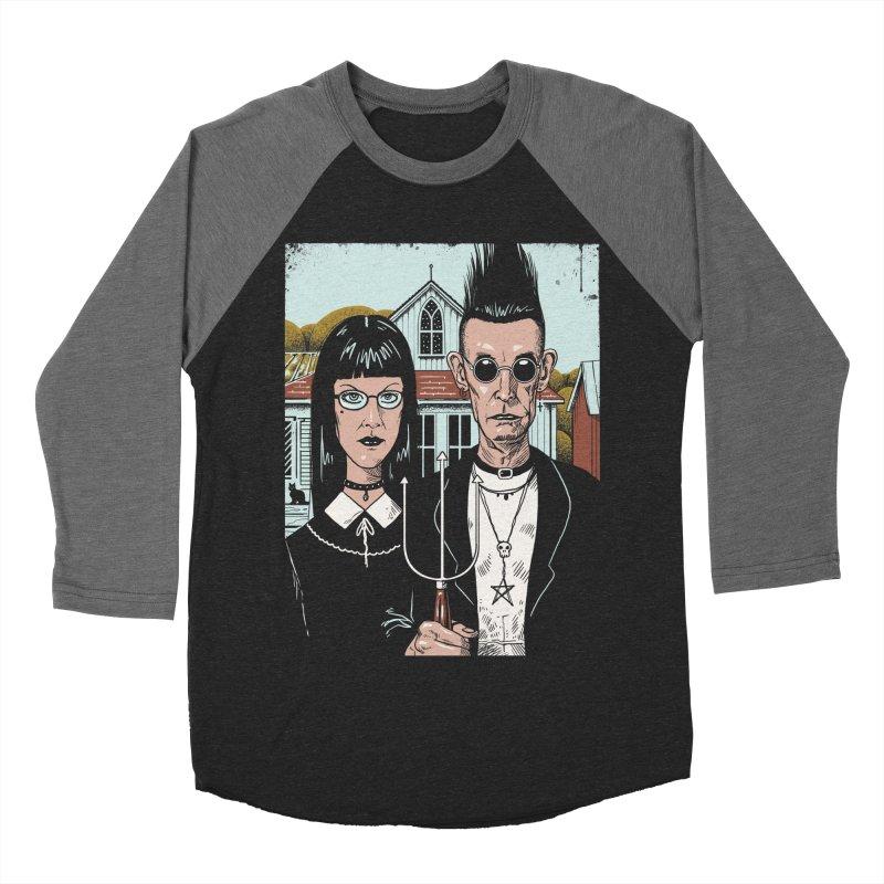 American Goth Women's Baseball Triblend Longsleeve T-Shirt by Vincent Trinidad Art