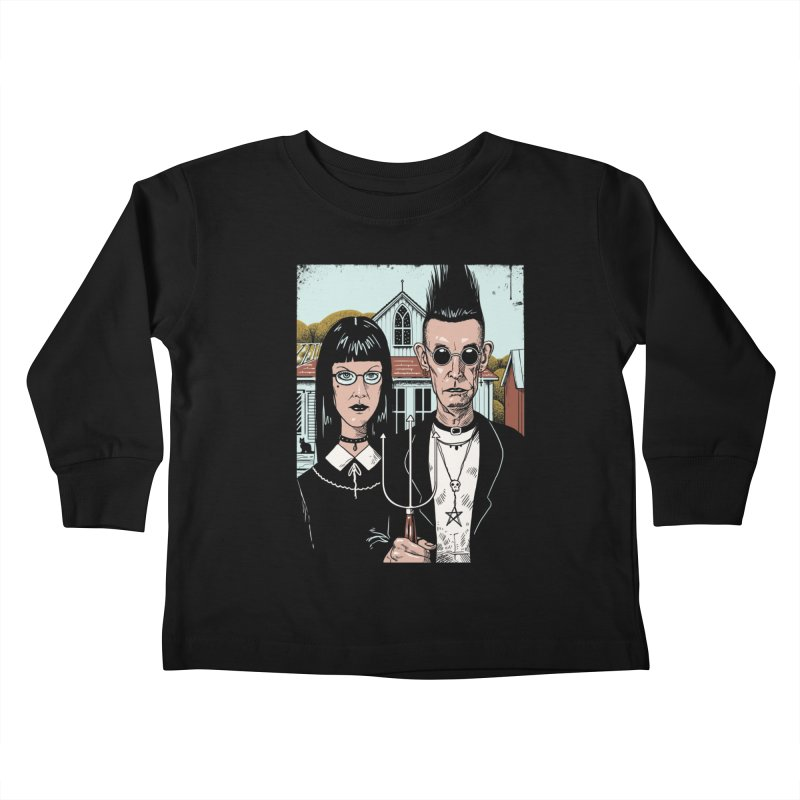 American Goth Kids Toddler Longsleeve T-Shirt by Vincent Trinidad Art