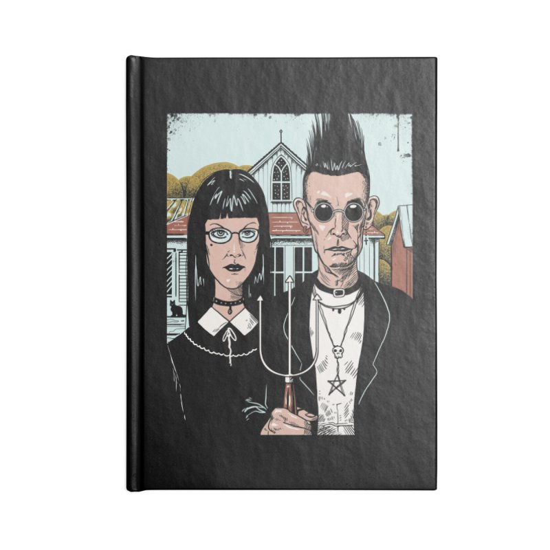 American Goth Accessories Lined Journal Notebook by Vincent Trinidad Art