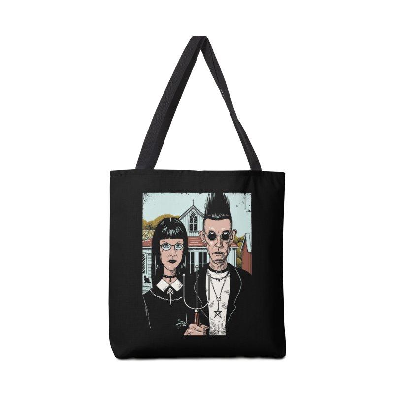 American Goth Accessories Tote Bag Bag by Vincent Trinidad Art