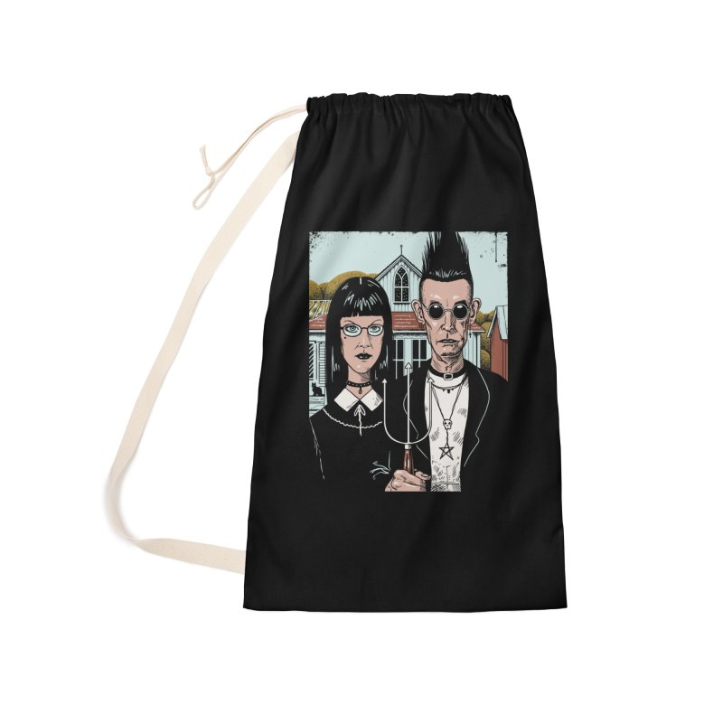American Goth Accessories Laundry Bag Bag by Vincent Trinidad Art
