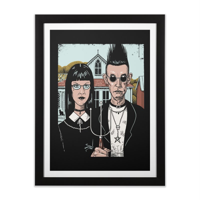 American Goth Home Framed Fine Art Print by Vincent Trinidad Art