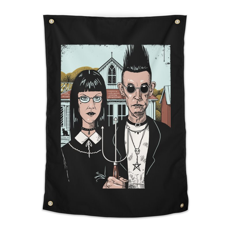 American Goth Home Tapestry by Vincent Trinidad Art