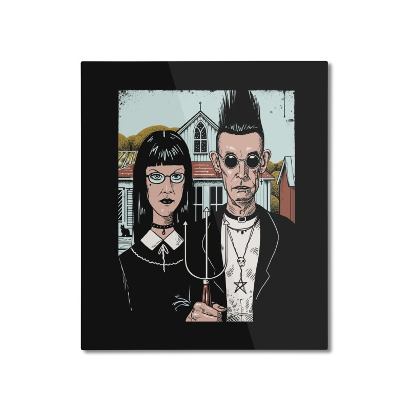 American Goth Home Mounted Aluminum Print by Vincent Trinidad Art