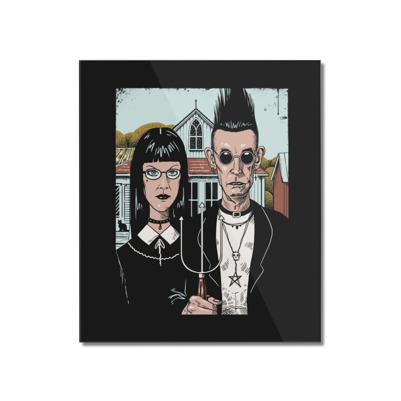 American Goth Home Mounted Acrylic Print by Vincent Trinidad Art