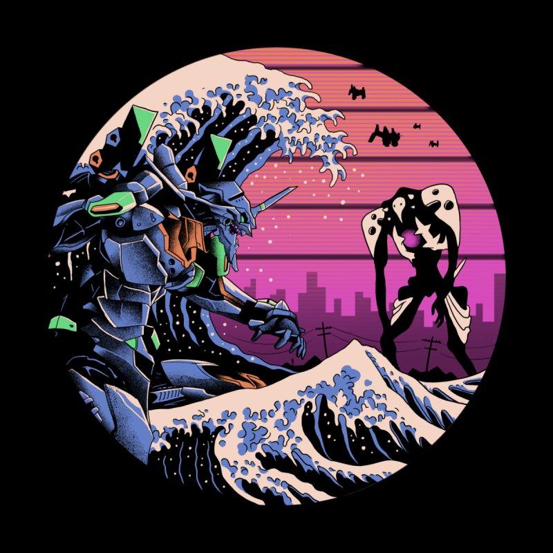Retro Wave EVA Men's Zip-Up Hoody by Vincent Trinidad Art