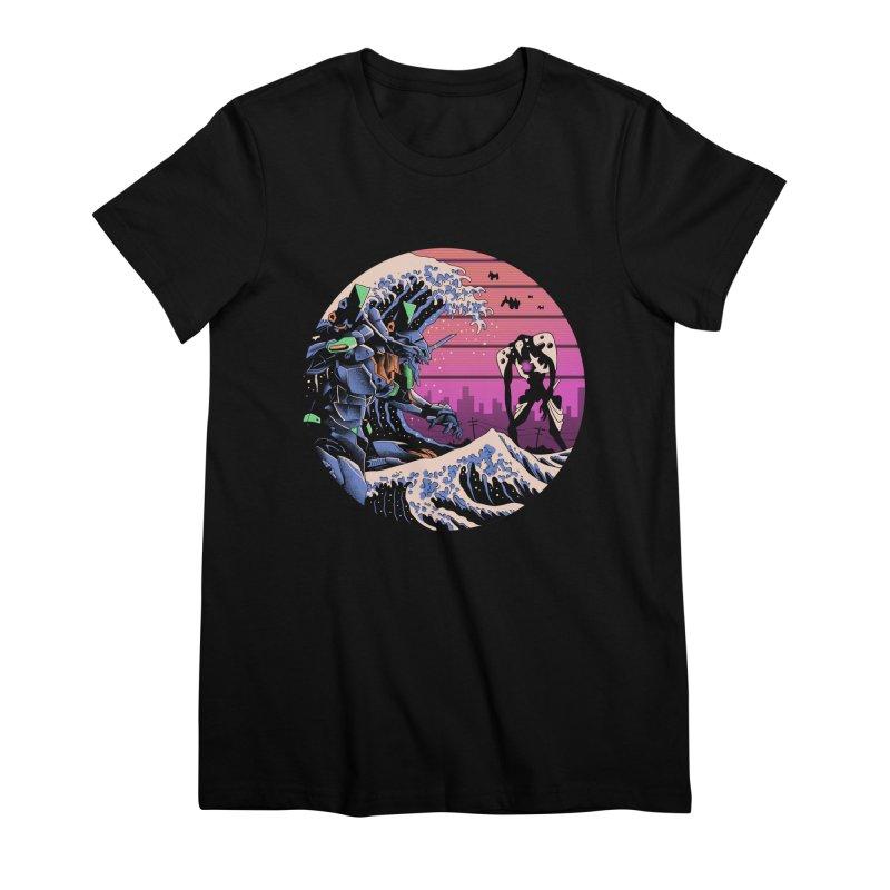 Retro Wave EVA Women's Premium T-Shirt by Vincent Trinidad Art