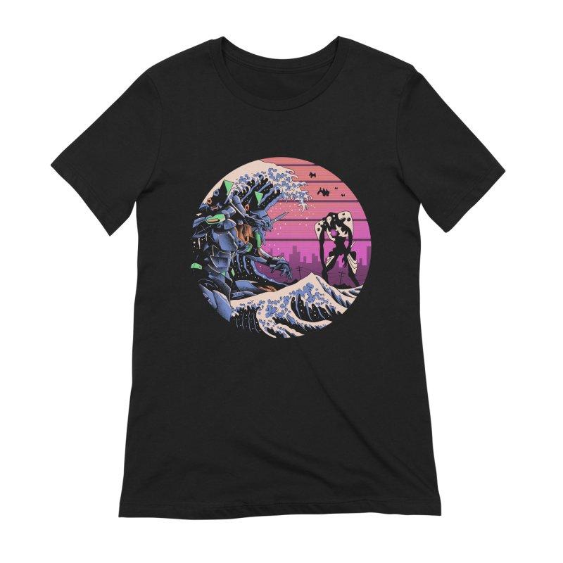 Retro Wave EVA Women's Extra Soft T-Shirt by Vincent Trinidad Art