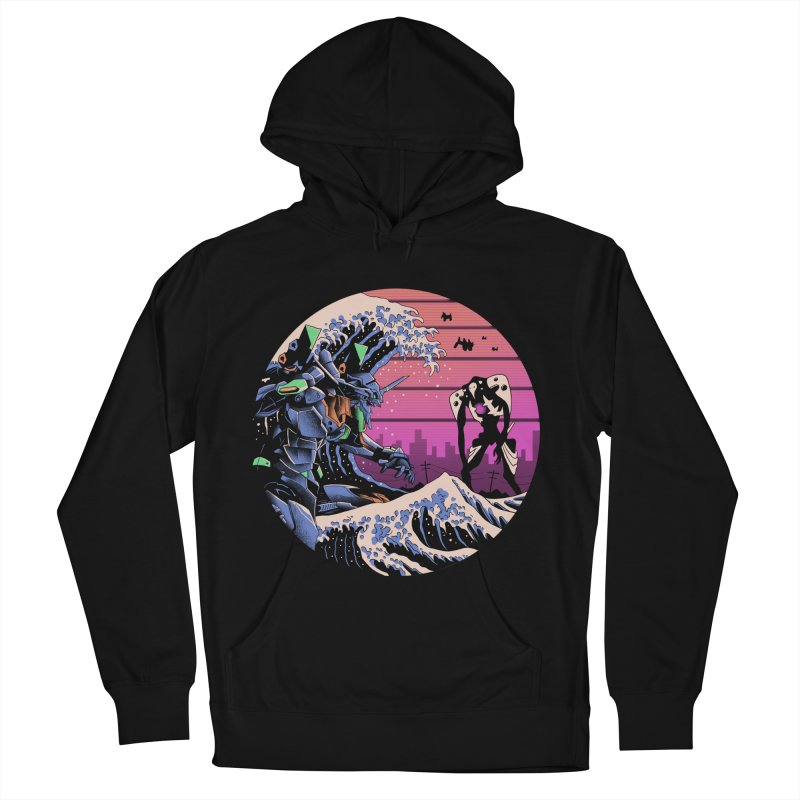 Retro Wave EVA Women's French Terry Pullover Hoody by Vincent Trinidad Art