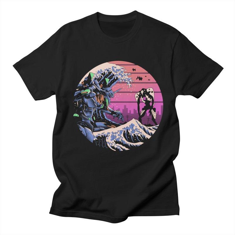 Retro Wave EVA Women's Regular Unisex T-Shirt by Vincent Trinidad Art