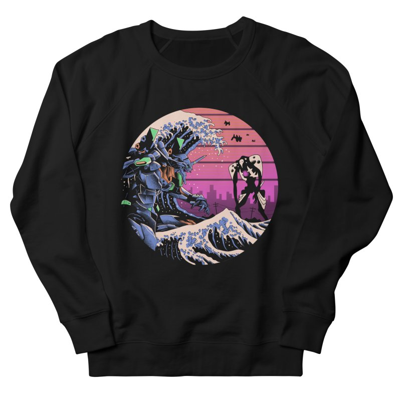 Retro Wave EVA Women's French Terry Sweatshirt by Vincent Trinidad Art