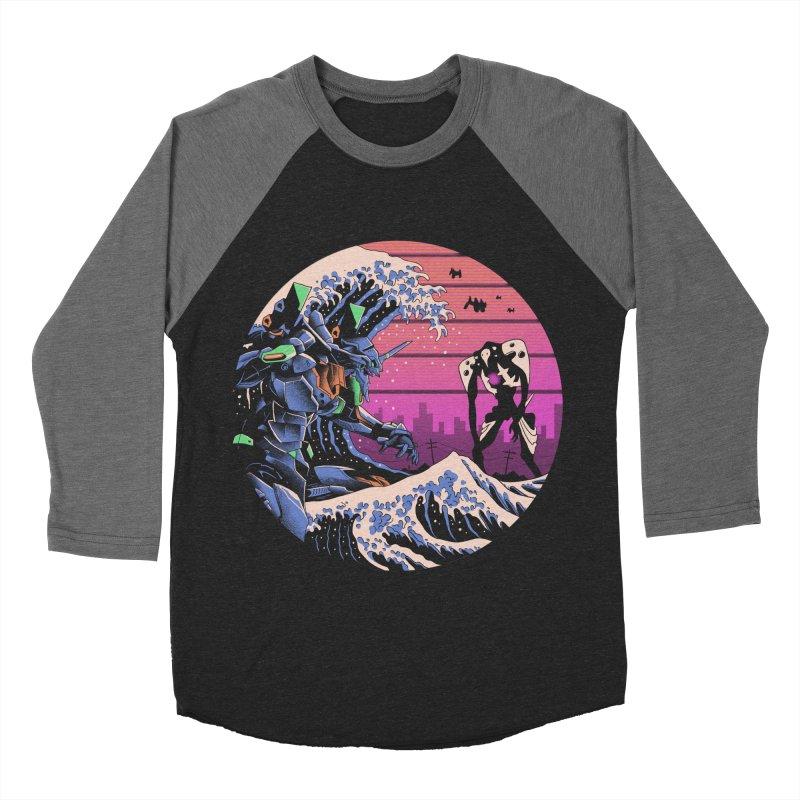 Retro Wave EVA Women's Baseball Triblend Longsleeve T-Shirt by Vincent Trinidad Art