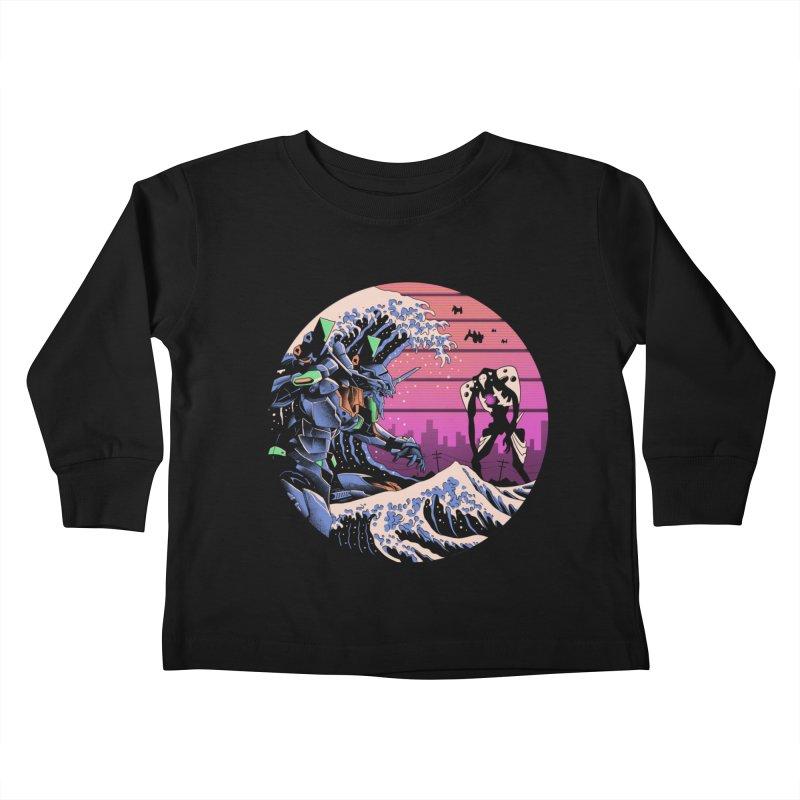 Retro Wave EVA Kids Toddler Longsleeve T-Shirt by Vincent Trinidad Art