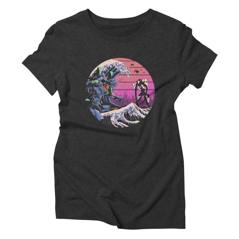Retro Wave EVA Women's Triblend T-Shirt by Vincent Trinidad Art
