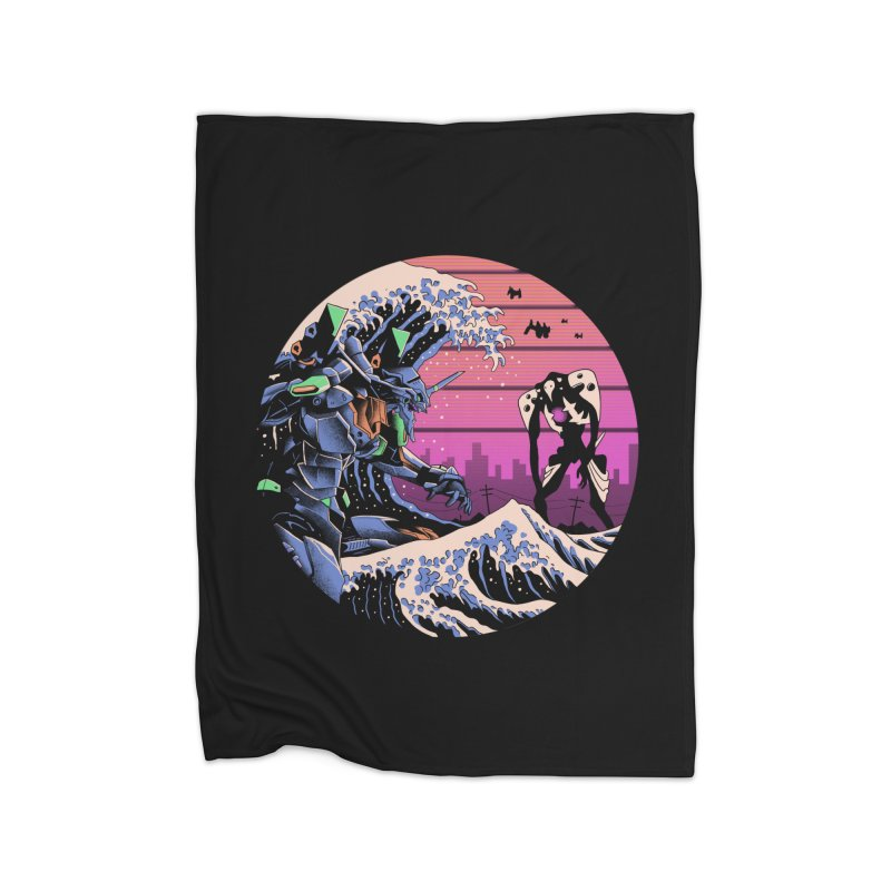 Retro Wave EVA Home Fleece Blanket Blanket by Vincent Trinidad Art