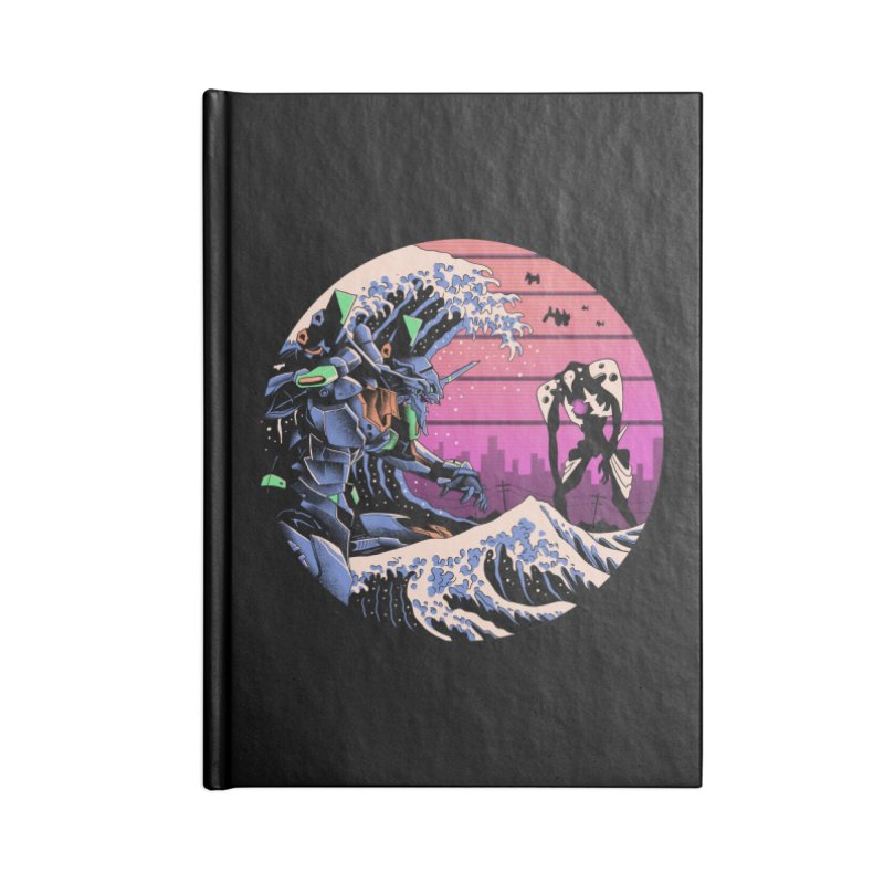 Retro Wave EVA Accessories Lined Journal Notebook by Vincent Trinidad Art