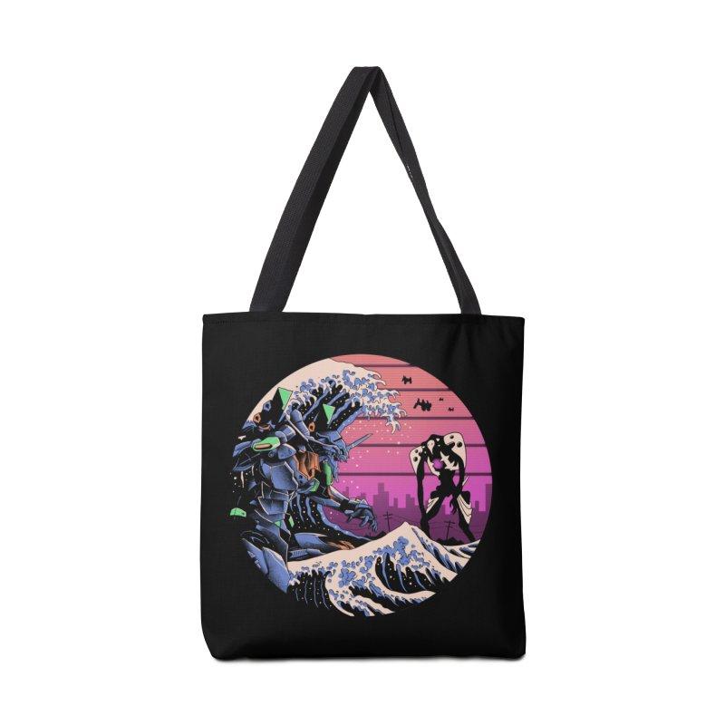 Retro Wave EVA Accessories Tote Bag Bag by Vincent Trinidad Art