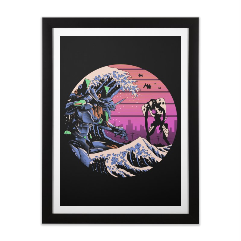 Retro Wave EVA Home Framed Fine Art Print by Vincent Trinidad Art
