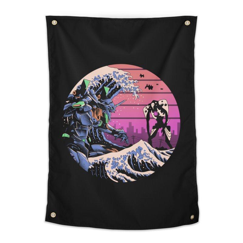 Retro Wave EVA Home Tapestry by Vincent Trinidad Art