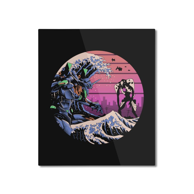 Retro Wave EVA Home Mounted Aluminum Print by Vincent Trinidad Art