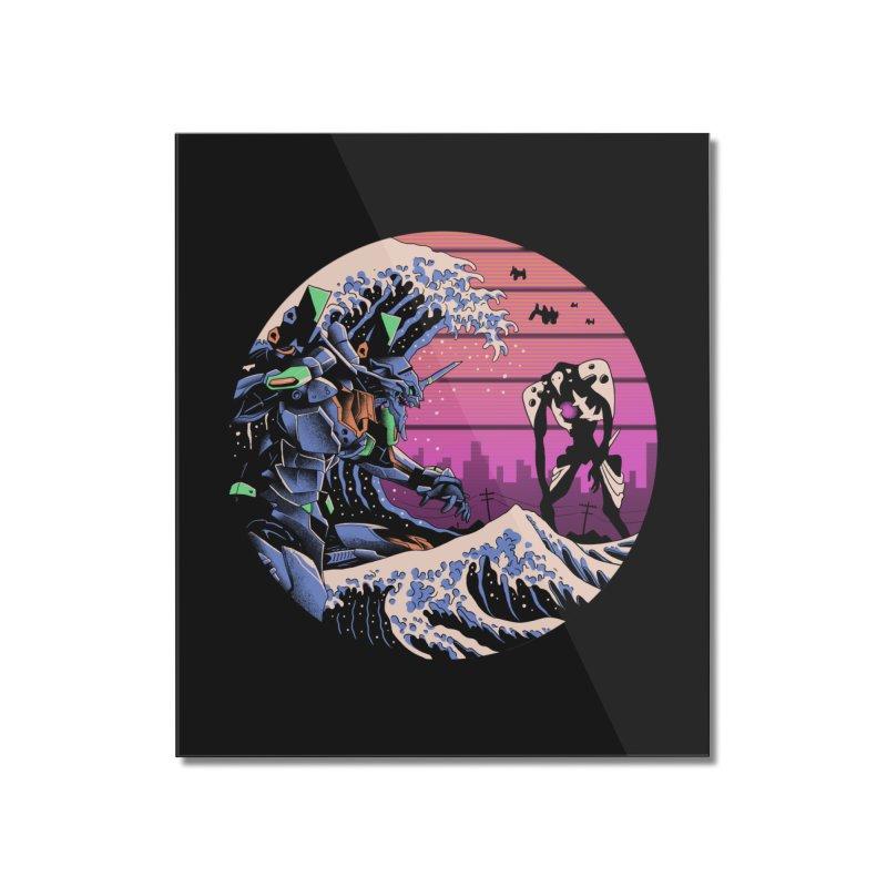 Retro Wave EVA Home Mounted Acrylic Print by Vincent Trinidad Art