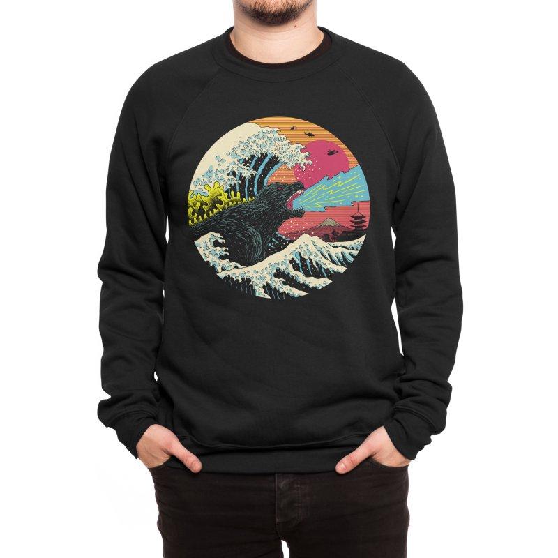 Retro Wave Kaiju Men's Sweatshirt by Vincent Trinidad Art