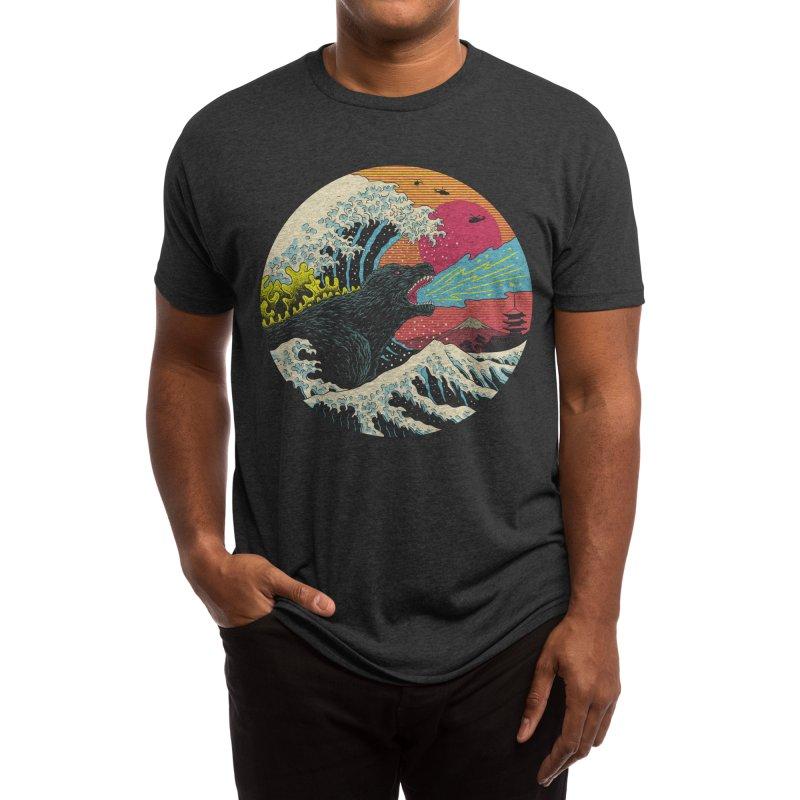 Retro Wave Kaiju Men's T-Shirt by Vincent Trinidad Art
