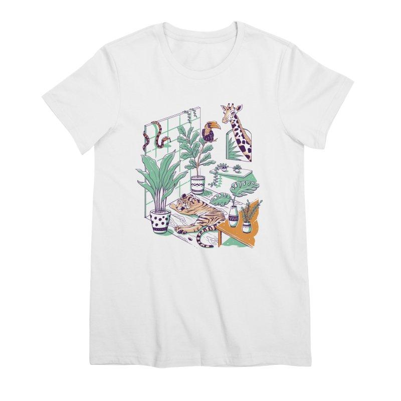 Urban Jungle Women's Premium T-Shirt by Vincent Trinidad Art