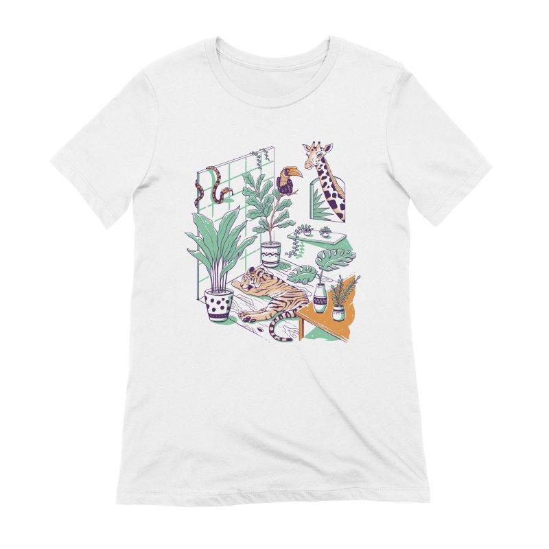 Urban Jungle Women's Extra Soft T-Shirt by Vincent Trinidad Art