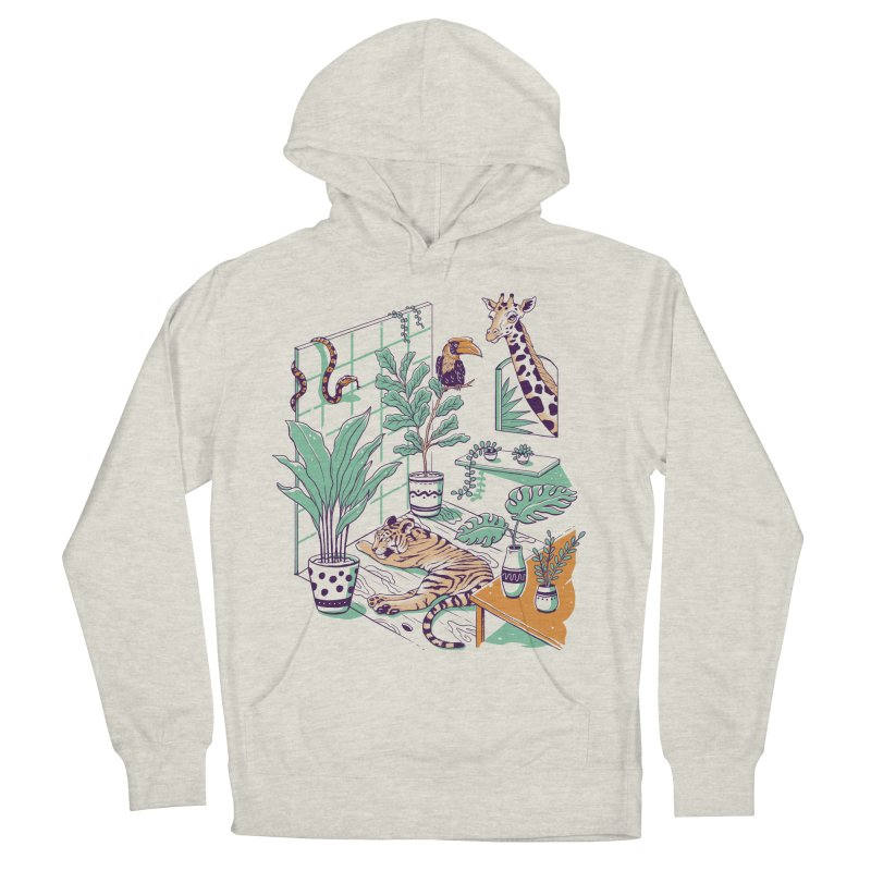 Urban Jungle Women's French Terry Pullover Hoody by Vincent Trinidad Art