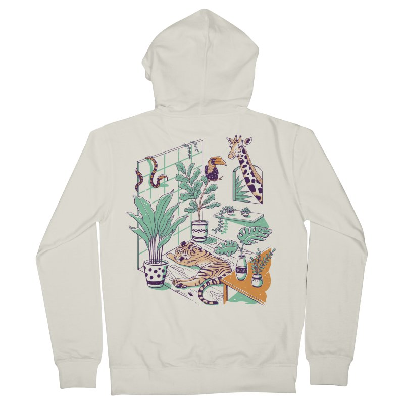Urban Jungle Men's French Terry Zip-Up Hoody by Vincent Trinidad Art