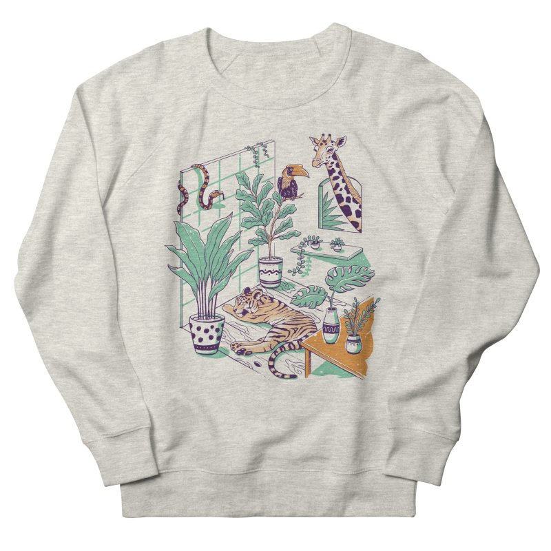 Urban Jungle Women's French Terry Sweatshirt by Vincent Trinidad Art