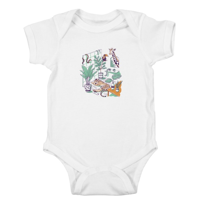 Urban Jungle Kids Baby Bodysuit by Vincent Trinidad Art