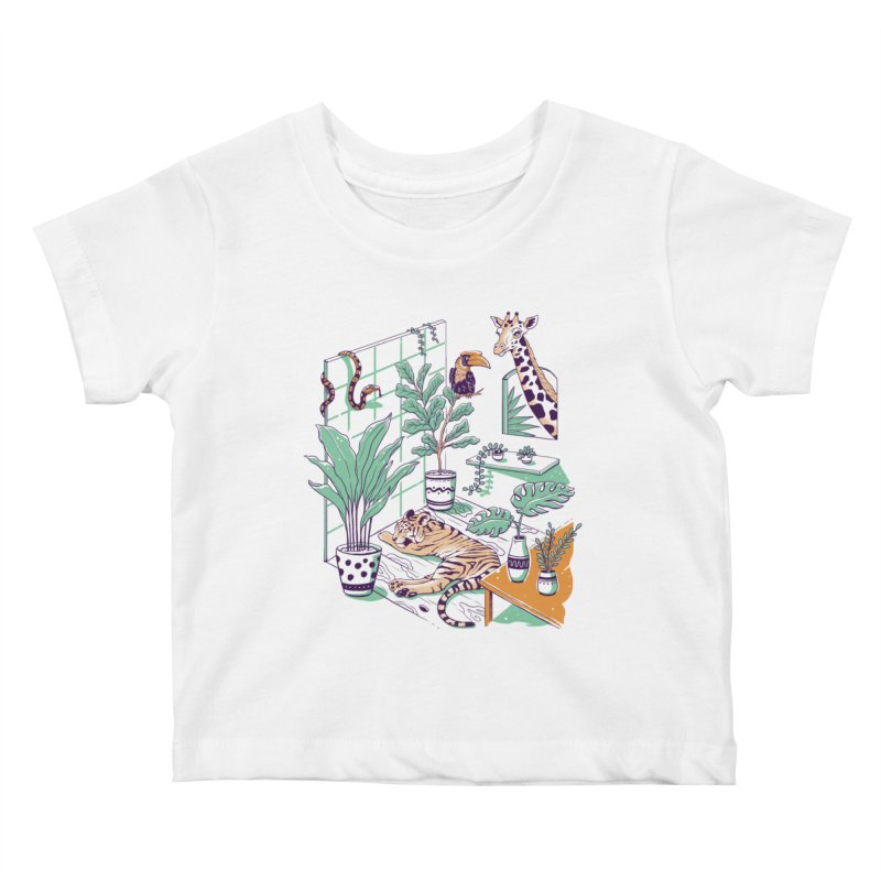 Urban Jungle Kids Baby T-Shirt by Vincent Trinidad Art