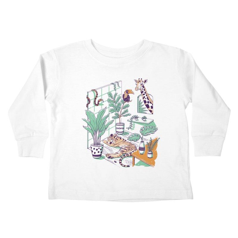 Urban Jungle Kids Toddler Longsleeve T-Shirt by Vincent Trinidad Art