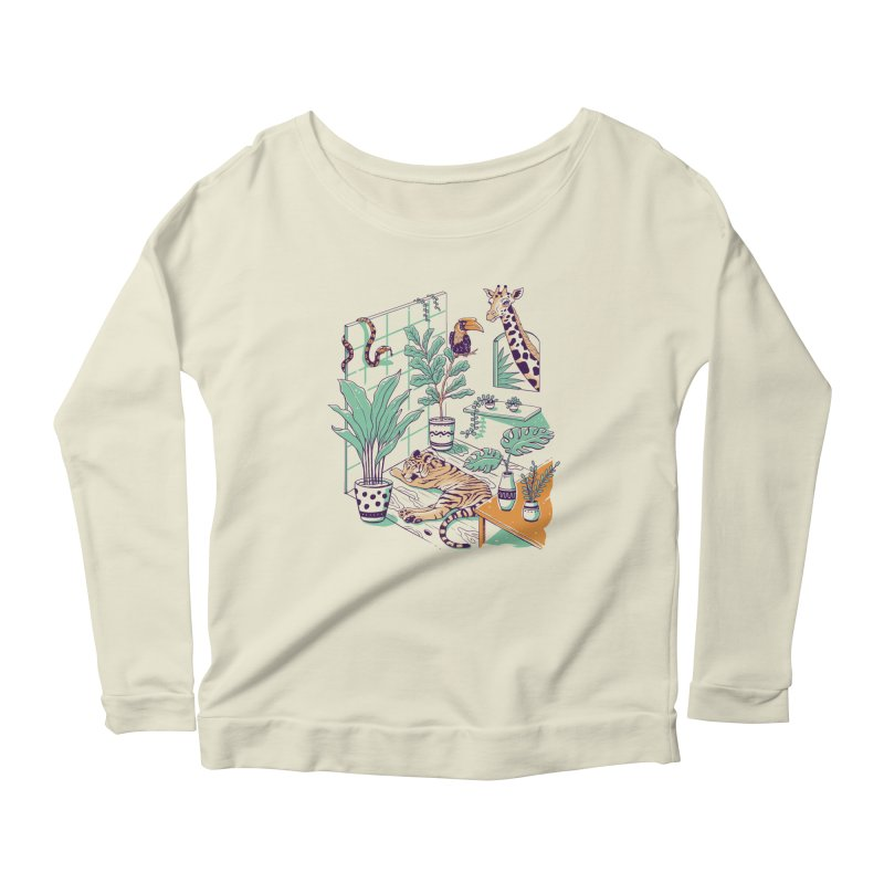 Urban Jungle Women's Scoop Neck Longsleeve T-Shirt by Vincent Trinidad Art