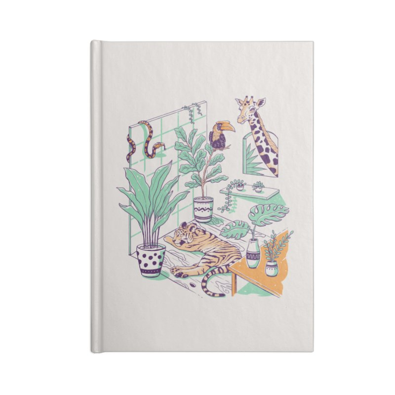 Urban Jungle Accessories Lined Journal Notebook by Vincent Trinidad Art