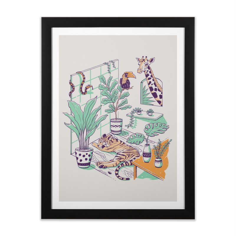 Urban Jungle Home Framed Fine Art Print by Vincent Trinidad Art