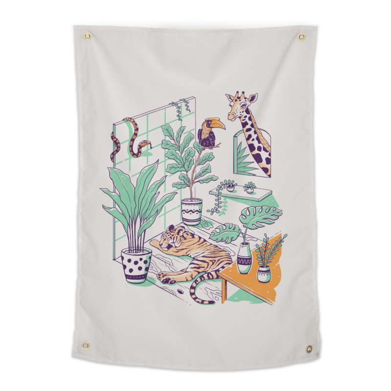 Urban Jungle Home Tapestry by Vincent Trinidad Art