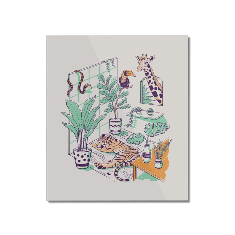 Urban Jungle Home Mounted Acrylic Print by Vincent Trinidad Art