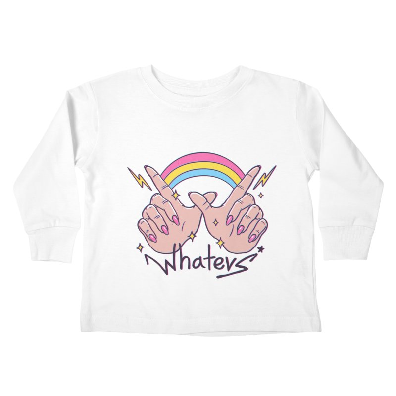 Whatevs! Kids Toddler Longsleeve T-Shirt by Vincent Trinidad Art