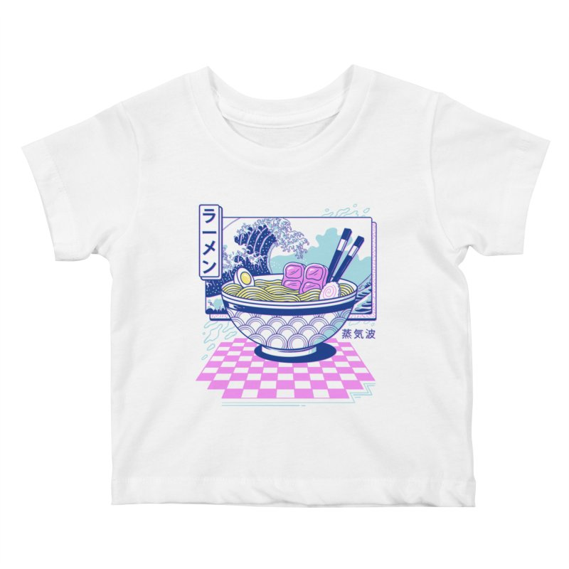 Vaporwave Ramen Kids Baby T-Shirt by Vincent Trinidad Art
