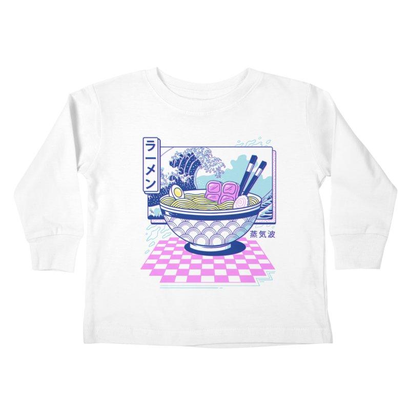 Vaporwave Ramen Kids Toddler Longsleeve T-Shirt by Vincent Trinidad Art
