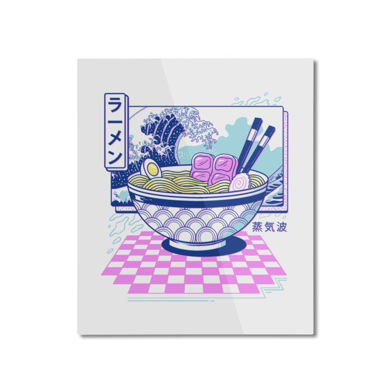 Vaporwave Ramen Home Mounted Aluminum Print by Vincent Trinidad Art