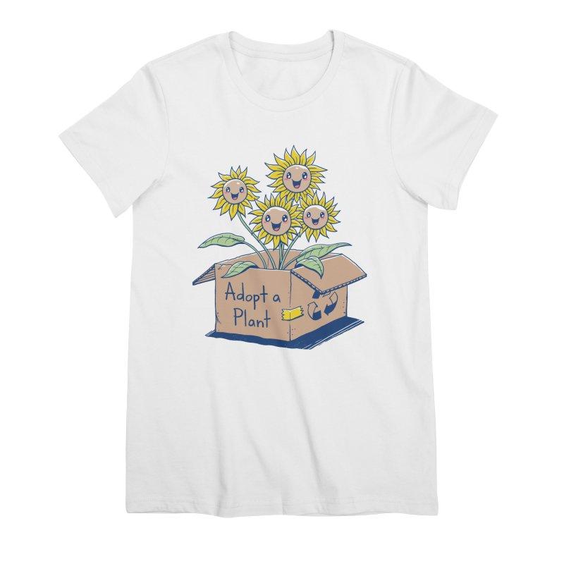 Adopt a Plant Women's Premium T-Shirt by Vincent Trinidad Art