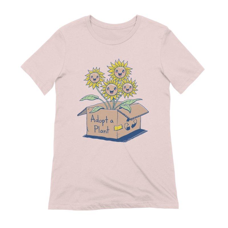 Adopt a Plant Women's Extra Soft T-Shirt by Vincent Trinidad Art