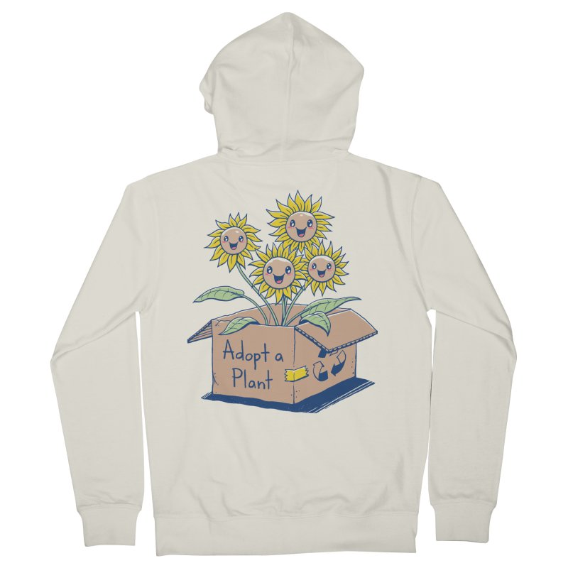 Adopt a Plant Men's Zip-Up Hoody by Vincent Trinidad Art