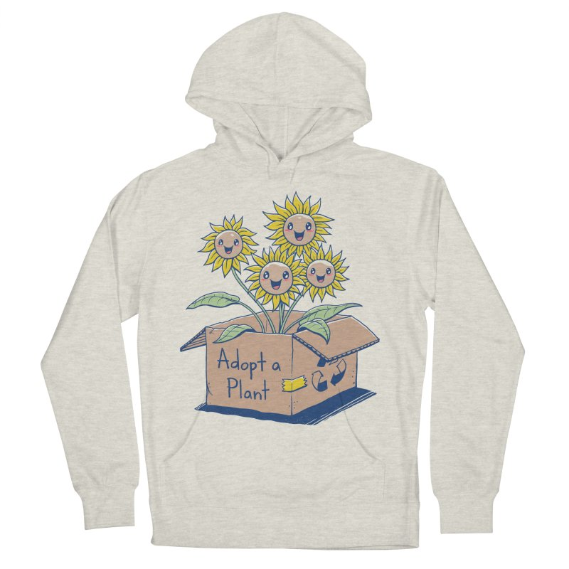 Adopt a Plant Women's French Terry Pullover Hoody by Vincent Trinidad Art